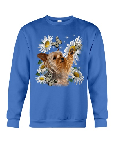 Fn 5 yorkie play with butterflies and daisies