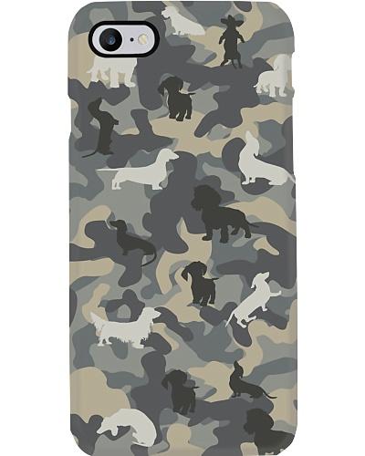Army Dachshund Phone Case