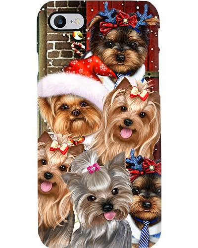 Yorkshire terrier hello christmas