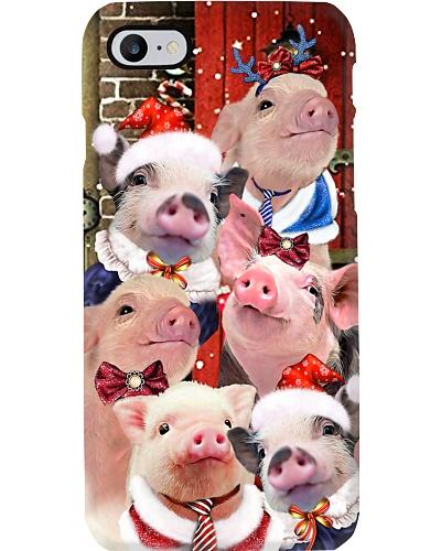 Pig hello christmas phone case