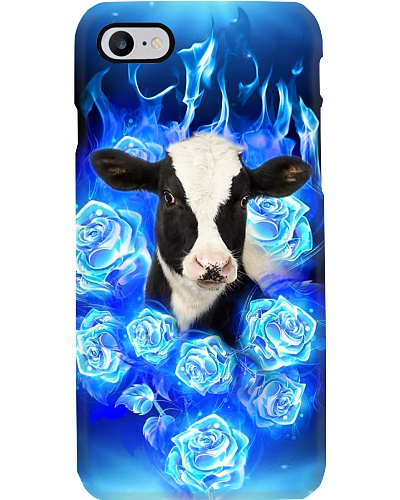 Cow blue roses flame