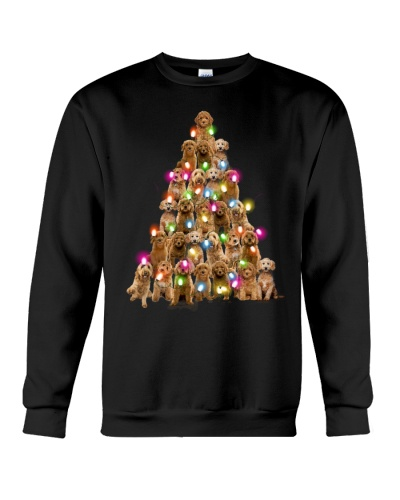Goldendoodle paws tree