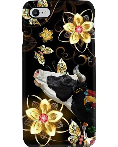 Cow flower phone case