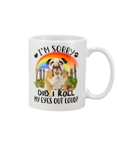 Bulldog rolls eyes
