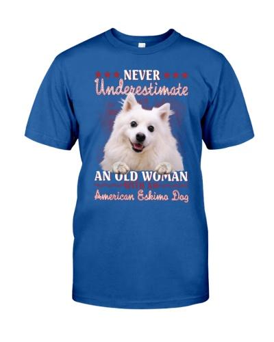 American eskimo dog never underestimate old woman