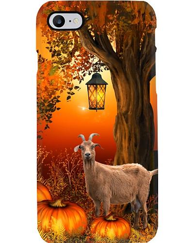 Goat autumn tree case