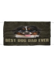 Th 2 Bernese Mountain Best Dog Dad Ever Cloth face mask front