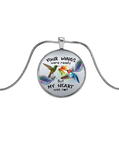 Hummingbird your wings necklace