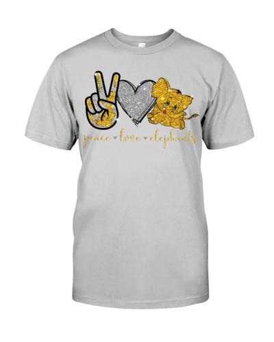 LT elephants peace love shirt