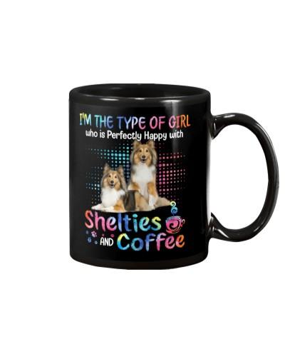 Shelties coffee color mug