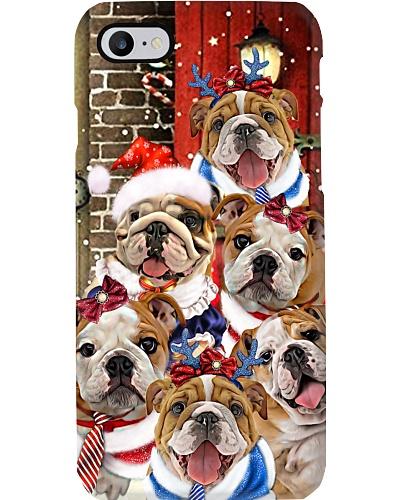 Bulldogs hello christmas phone case