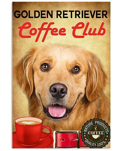 Golden Retriever Coffee Club Poster