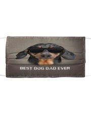 Dachshund Best Dog Dad Ever Cloth face mask front