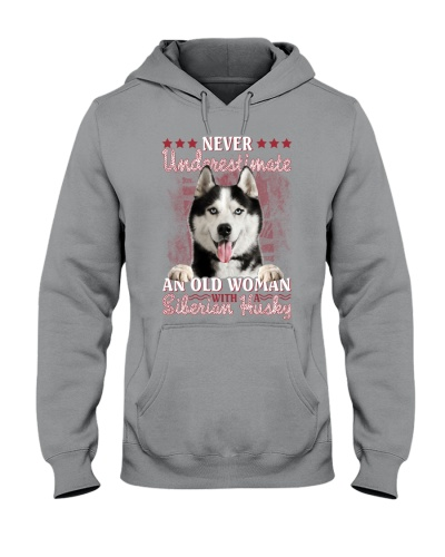 Siberian husky never underestimate old woman