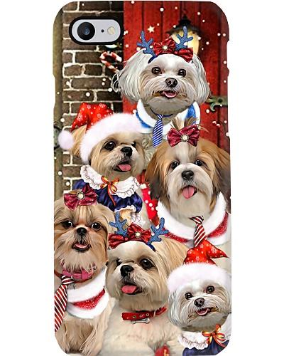 Shih tzu hello christmas phone case