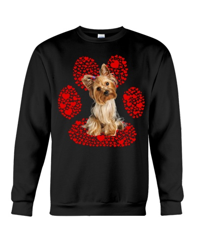 Ln yorkshire terrier hearts paw