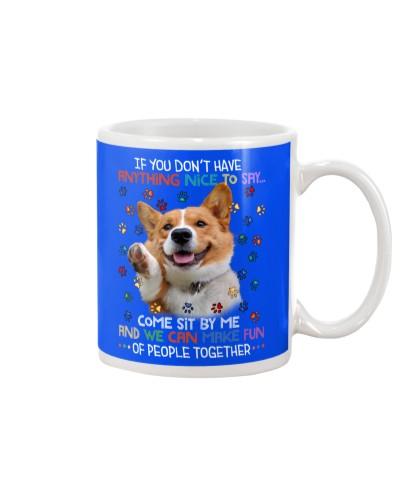 Ln 2 corgi make fun of people mug