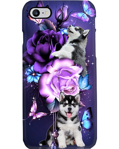 Siberian husky magical phone case