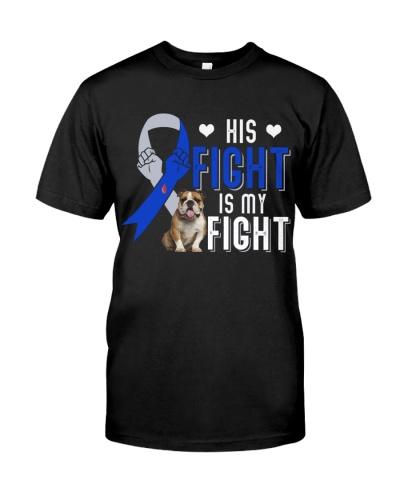 Bulldog fighting diabetes shirt