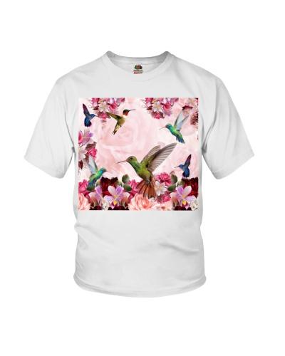 fn hummingbird pink flowers