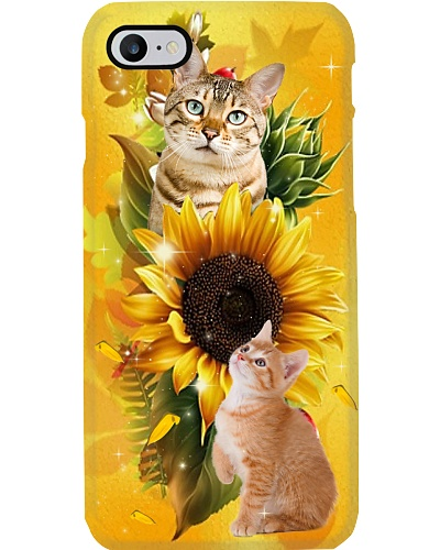 Sunflower With Cats