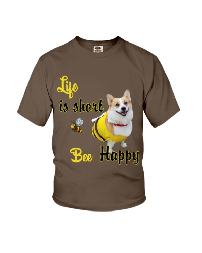 Life is short bee happy Corgi