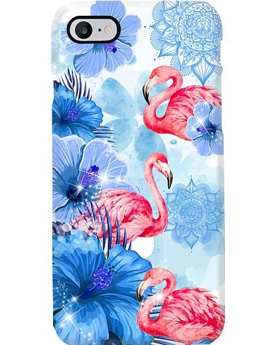 Blue Flower Mandala Flamingo