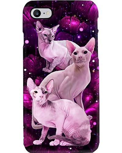 Magic galaxy rose Sphynx Cat phone case