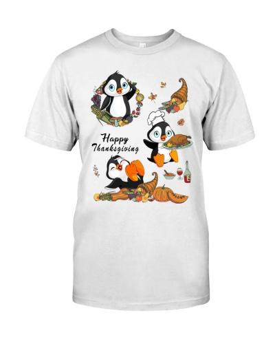 Penguin happy thanksgiving