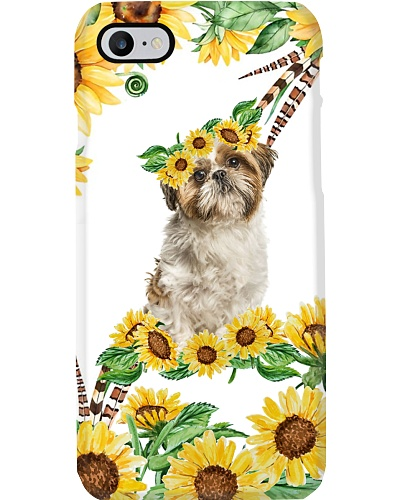 Shih tzu sunshine flower phone case