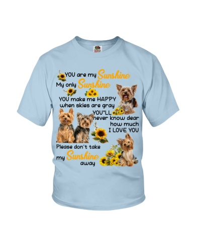 Not take my sunshine away luv U Yorkshire terrier