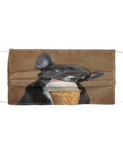 TH 32 French Bulldog Eating Ice Cream Cloth face mask front