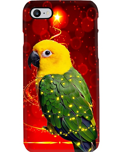 Parrot christmas light phone case