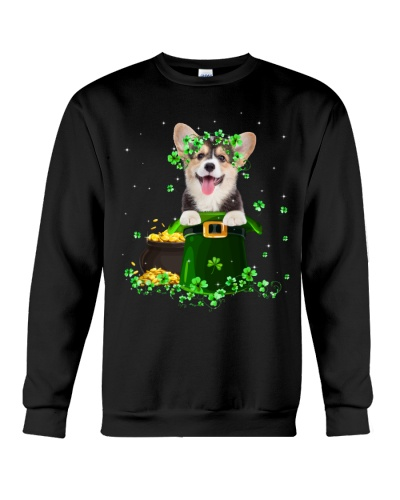 Corgi puppy patrick's day shirt
