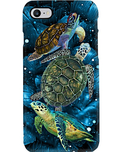 SHN 10 Magic blue rose Turtle phone case