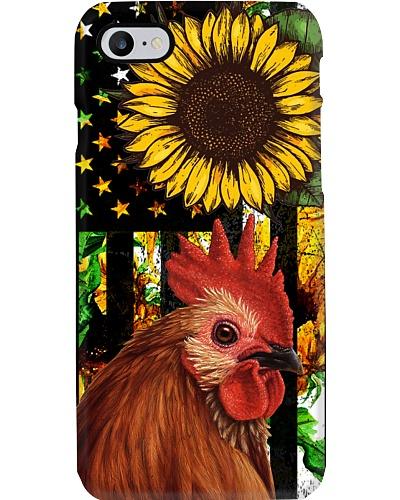 SHN Vintage sunflower American flag Chicken
