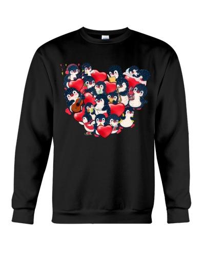 Penguins baby heart valentine shirt