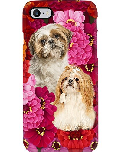 Shih tzu pastel flower color cute funny gift pce