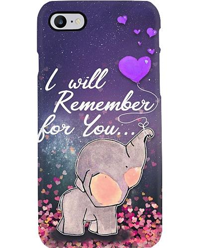 Elephant remember you phone case