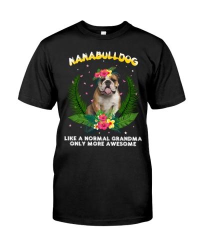 Bulldog nana shirt
