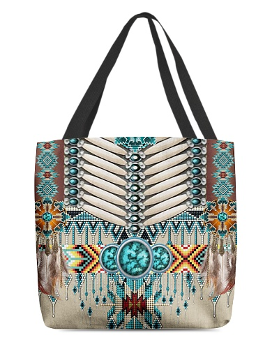 SHN 10 Native American pattern All-over tote bag