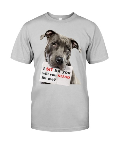 Pitbull Sit For You Will You Stand For Me