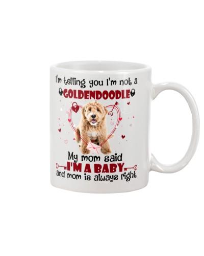 Baby goldendoodle mug