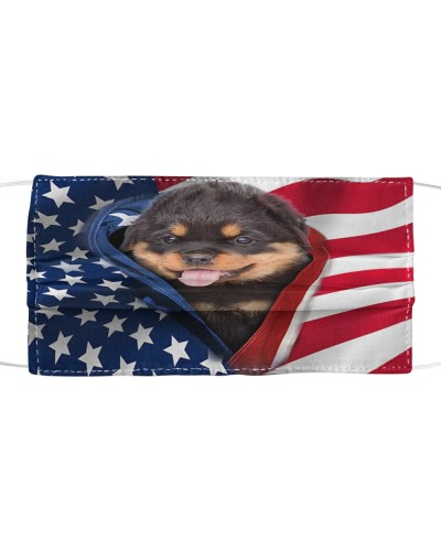 SHN 10 Opened American flag Rottweiler