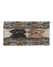 Monica Labradoodle boho pattern Cloth face mask front