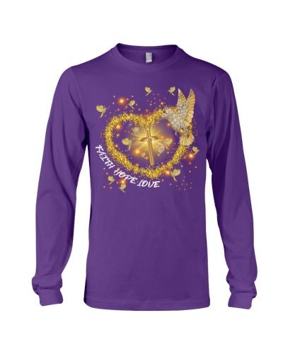 SHN Faith Hope Love Gold Cross Hummingbird shirt