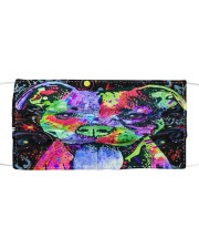 SHN 8 Colored face Pitbull Cloth face mask front