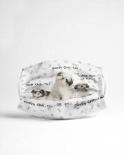 Shih Tzu Ball Of Fur Cloth face mask aos-face-mask-lifestyle-22