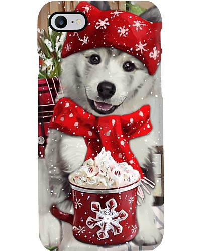 SHN 10 Christmas ice coffee Siberian Husky case