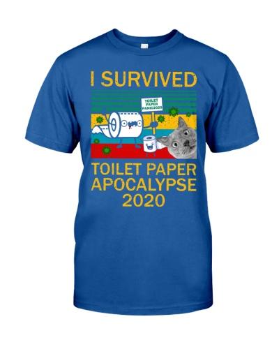 Cat I Survived Toilet Paper